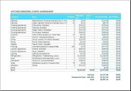 Home Renovation Spreadsheet For Costs Home Repair Cost Estimate Template