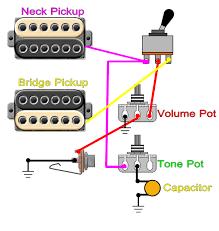 neck pickup only tone control 2 humbucker 1 volume 1 tone wiring