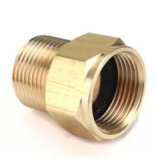 m22 brass pressure washer adapter male