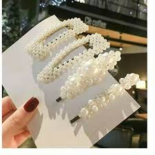 <b>Pearl</b> Hair Clip Barrettes <b>2019 Fashion</b> For <b>Women</b> Handmade ...
