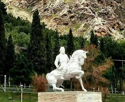 Added by @milad_valizade68 Instagram post خرم آباد-پارک شریعتی-مجسمه وزرین سوار کاسیت پ ن: اصطلاح #کاسی یا #کاسپی شامل نژادی وسیع بوده است که فراتر از قوم واحد معروف کاسی بوده باشد و