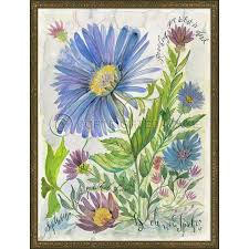 Spicher and Company Flowers of the Month September Flowers Framed Print |  Lavender Fields