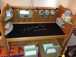 cot repurposed in to a desk for xavier s first birthday