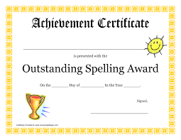 Most Likely To Award Template Spelling Bee Award Certificate Template Cumed Org