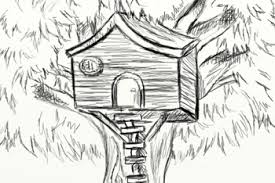 Unique How To Draw A Treehouse Step By Drawing And Decorating