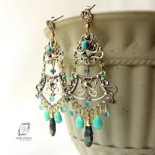 custom made large chandelier earrings indian bollywood style