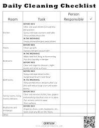 Examples Of Cleaning Schedules School Cleaning Schedule Template