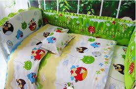 green angry birds crib bedding
