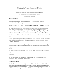 best photos of sample of informed consent document informed informed consent form sample