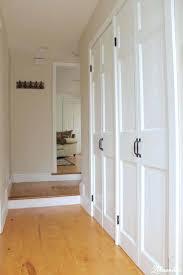 building closet doors closet door makeover bi fold to hinged diy closet doors