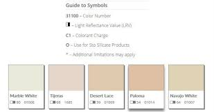 Sto Eifs Color Chart Sto Stucco Color Charts