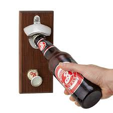 magnetic bottle opener and cap catcher. Fine Bottle Magnetic Bottle Opener Inside And Cap Catcher