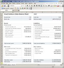 How To Create Balance Sheet Create A Balance Sheet Report Analysis For Microsoft Excel