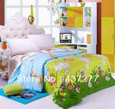 designer forest flower animal bedding for kids teen twin full queen king size cotton duvet cover bedclothes comfoter sets 4 bedding sheets