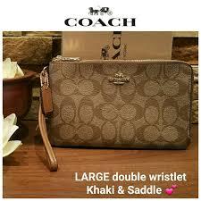 NEW Coach LARGE Double Zip Wallet   Wristlet