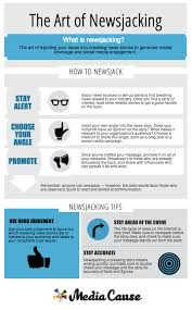 Nonprofits Newsjacking Infographic Tips Infographic Newsjacking For WFCwq1nUz
