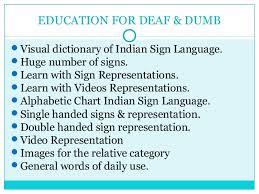 Indian Sign Language Chart Deaf Dumb