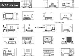 dining chair side elevation cad block. bedroom elevation - free cad file dining chair side cad block