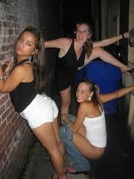 Cute college chicks peeing