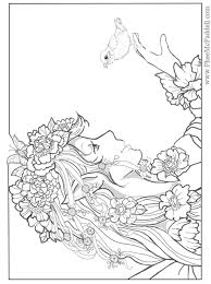 Small Picture Complex Mermaid Coloring Pages Beautiful Coloring Complex Mermaid