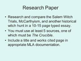 the witch hunts of mccarthyism ppt video online research paper research and compare the m witch trials mccarthyism and another historical witch