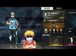 broken gaming free fire uid number