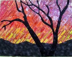 114 best Gloria's (Loughman) Glorious Quilts images on Pinterest ... & Sunset Silhouette Made in a Gloria Loughman class Adamdwight.com