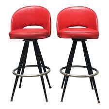 saarinen bar stool. Modren Bar 1950s Mid Century Modern Saarinen Style Red Vinyl Bar Stools  A Pair For Stool