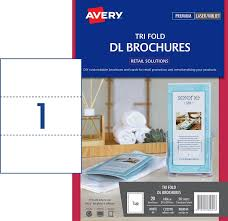 Avery Tri Fold Brochure Templates Avery Tri Fold Dl Brochures Labels C32290 A4 20pk