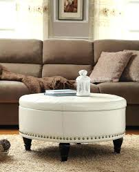 latest leather round upholstered ottoman coffee table regarding exciting for ottomans