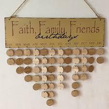 diy wooden faith family and friends birthday calendar board