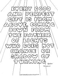 Printable bible verse james 1 17 coloring page