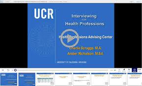 health professions advising center interview workshop interview workshop video