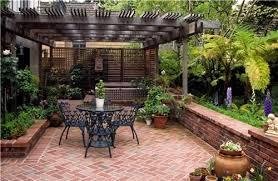 brick patio ideas. Small Brick Patio Ideas - I Like This, Especially The Pergola Thingy And Low Wall. W