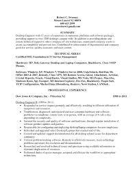 Desktop Support Resume Format It Resume Cover Letter Sample