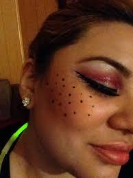 my ladybug makeup for glitter ladybug spots and winged liner