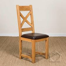 cross back dining chairs. Heritage Rustic Oak Cross Back Dining Chair With A Padded Seat Chairs I