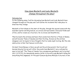 how does macbeth and lady macbeth change throughout the play  document image preview