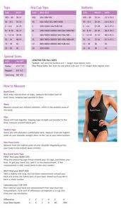 Lululemon Bathing Suit Size Chart 11 Best Sizing Charts For Womens Activewear Images Active