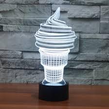 acrylic furniture australia. Free Shipping 3D Desk Lamp Ice Cream Gift Acrylic Night Light LED Lighting Furniture Decorative Colorful 7 Color Change Home Accessory Australia