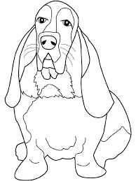 Dogs Coloring Pages Basset Hound Book Cats Free Puppy