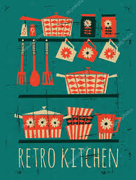 Retro Kitchen Retro Kitchen Poster Stock Vector Ac Ivaleks 23912461