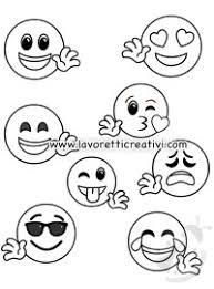 Faccine Emoticon Da Colorare Awesome Faccine Da Stampare E