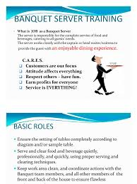 Fetching Banquet Server Training Manual Basic Skill 1 Tableware Food