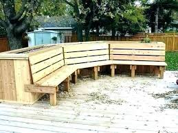 building a deck bench with back plans for benches storage