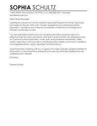 Sample Cover Letter For Communications Job Sample Of Cover Letter