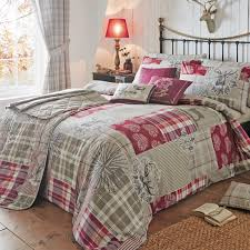 Just Contempo Double Size Country Tartan Patchwork Duvet Cover Set ... & Just Contempo Double Size Country Tartan Patchwork Duvet Cover Set with  Plaid Check Woodland Tree and Adamdwight.com