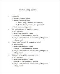 formal essay outline examples co formal essay outline examples