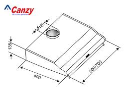 Máy hút khử mùi Canzy CZ 2070B - Kitchen Store