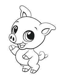 Easy Cute Coloring Pages Of Animals Free Cute Coloring Pages Cute
